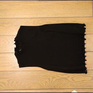 Zara black turtleneck tank top